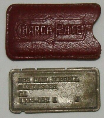 Vintage Charga-Plate, Early Credit Card in Leather Case, Atlanta Group
