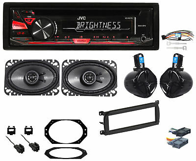 Full System w/Radio+Wire+4) Speakers+Mounting Hardware For 1997-02 Jeep Wrangler