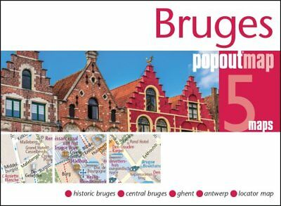Bruges PopOut Map by PopOut Maps 9781910218310 (Sheet map, folded, 2017)