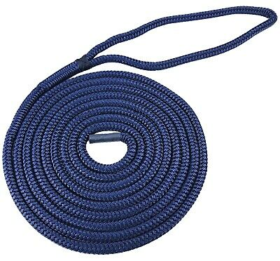Navy Blue Docklines Double Braid on Braid Polyester Mooring Rope 10mm - 16mm