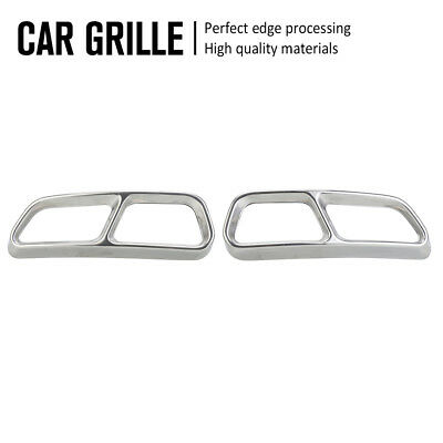 2pcs Exhaust Pipes Muffler Trim Cover Protector For Audi A6L C7 Sedan 4D 11-18