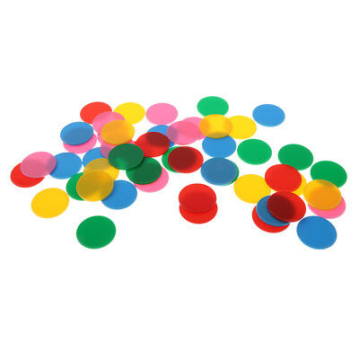 50pcs Plastic Maths Counters - (32mm) Baby Educational Number Math Tokens Games