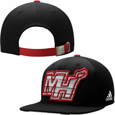 350cee8711a MIAMI HEAT ADIDAS Team Nation Adjustable Slouch Hat - Black Camo ...