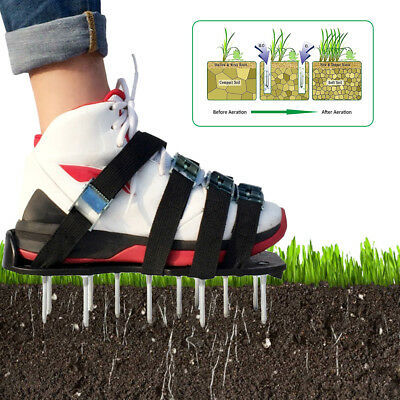 Lawn Aerator Sandals / Aerating Spikes Heavy Duty Spiked Shoes Tool W/ 8 Straps