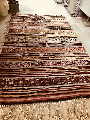 Gorgeous Antique Handmade Large Turkish Kilim Rug.lovely Colours Cost £600