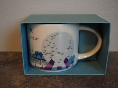 Silver Monorail Disney Parks EPCOT Starbucks MUG 2nd Edition You Are Here