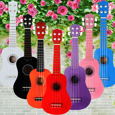 4 Nylon String Plywood Ukulele Uke Ukelele Soprano Musical Beginners Instrument