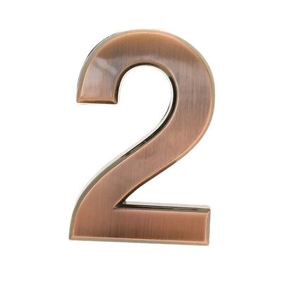 4pcs Contemporary House Sign Door Number Address Plaque Modern Plastic Signs