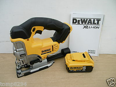 Brand New Dewalt Xr 18V Dcs331 Bare Unit Cordless Jigsaw + Dcb184 5 Ah Battery