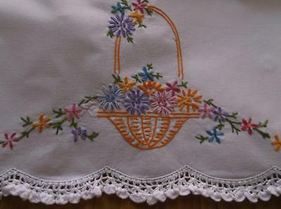 ~ Vintage Pillowcases With Embroidery~