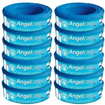 Angelcare 12PK Baby Nappy Diaper Disposal Cassettes Refills Disposal System/Bin