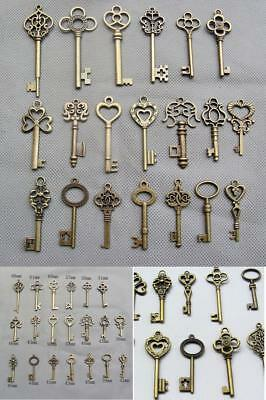 Skeleton Keys Antique Vintage Old Bulk Large Lock Key Brass Bronze 20 Set,5.99,3