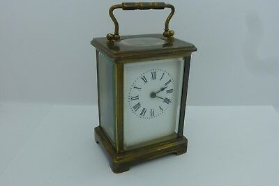 Antique French Japy Freres Paris Carriage Clock + Key In Good Working Order