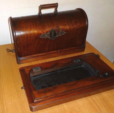 ANTIQUE SINGER MODEL 12k CASE AND BASE,1887.GOOD CONDITION,INC FITTINGS.