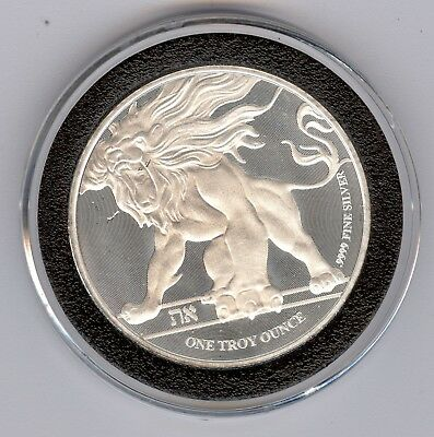 2018 1 oz Silver $2 Niue Roaring Lion Coin with Capsule - Planchet Flaw