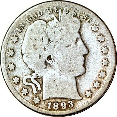 1893-S 50C Barber Half Dollar Good  K3431