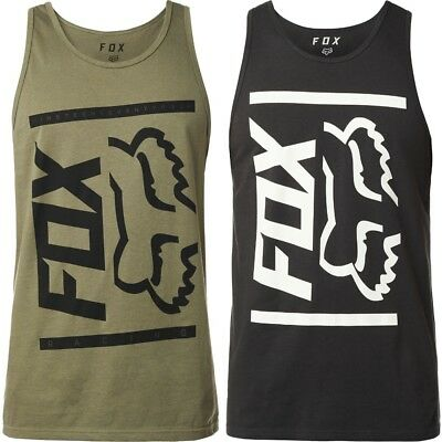 2d169f152b039 Fox Racing Side Barred Mens Sleeveless Tees Shirts Motocross Premium Tank  Tops
