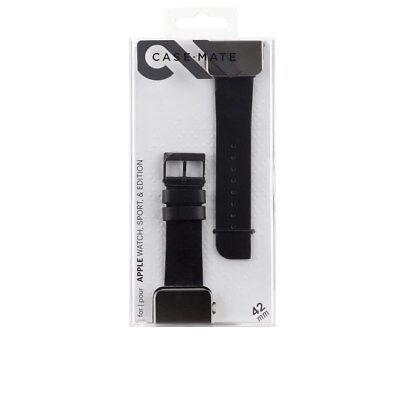 Case Mate Facets Smartwatch Band for Apple Watch 42mm Black CM032800-116yc