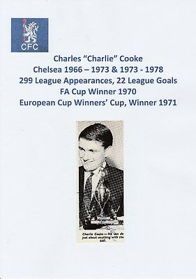 Charlie Cooke Chelsea 1966-1973 & 1973-1978 Original Hand Signed Annual Cutting