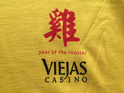 Viejas Casino CA Year of the Rooster Tee T-Shirt XL Players gift item souvenir