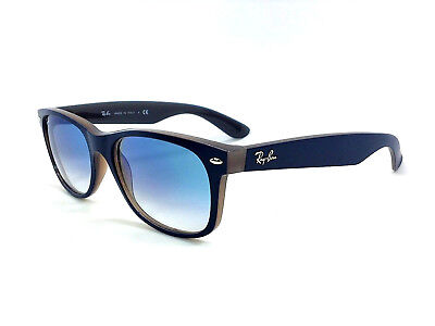 6917a35f5d Ray Ban RB2132 63083F New Wayfarer Matte Blue Opal   Blue Gradient 55mm  Sunglass
