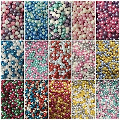 30g Edible Pearls Non Pareils Dragees Sugar Ball Jade White Pi Blue Cake Decor