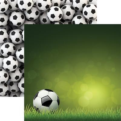 """Reminisce Soccer Double-Sided Cardstock 12""""X12"""" Scrappapier Fußball 30,5x30,5 cm"""