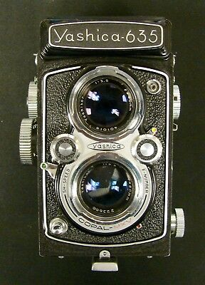 Yashica-635 35mm Vintage Camera Great Condition Clean Functioning Non-Tested