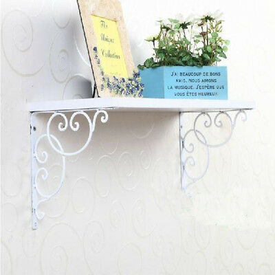 Rustic industrial Antique Cast Iron shelf wall Bracket Support book White