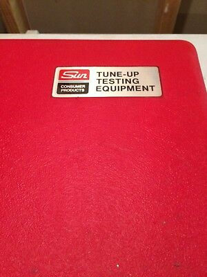 sun tune-up testing equipment timing light dwell tachometer case manual