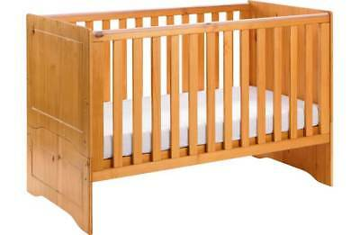 New BabyStart Baby Start Cot Crib CotBed Pine Junior Toddler Bed Wooden Modern