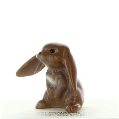 Lop Ear Rabbit White Tail Brown Miniature Figurine USA Made by Hagen-Renaker