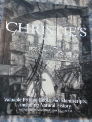 CHRISTIE'S CATALOGUE - Valuable printed books and manuscripts Inc natural - 2004