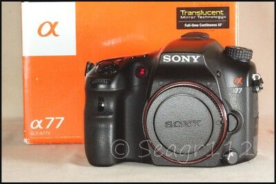 Sony Alpha SLT-A77 24.3MP Digital SLR/SLT Camera (No Lens) - Near Mint  3k Shots