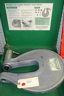 """Greenlee 1731 C-Frame Punch 1/2"""" - 2"""" with Case"""
