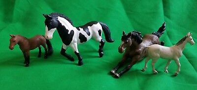 Cleveland Bay Britain's Horse Lot of 4 Animal Figure Brown White