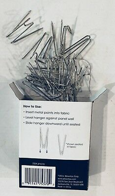 10 Advantus Cubicle Panel Wall Wire Hooks Silver Pins 75370 fabric material