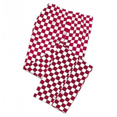 Red/White Checkerboard Chef Trousers Pants 3 Pockets Unisex, Bulk Buy Discount££