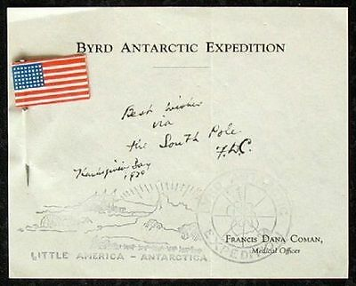 S840) Byrd Expedition Cover Best Wishes Via the South Pole Thanksgiving Day 1929
