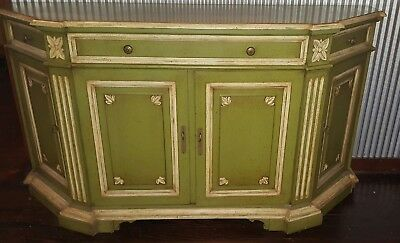 Vintage Green Buffet Table Mount Airy Chair Company Excellent Condition