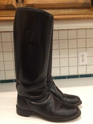 Women's Black Leather Riding Boots No Size in Boots See Measurements (Lot C)