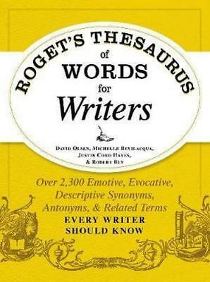 NEW Roget's Thesaurus Of Words For Writers By David Olsen Paperback