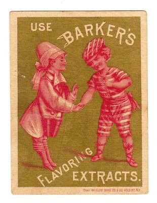 Bloomsburg Pa*kinports*druggist*barker's Flavoring Extracts*shield's Litho