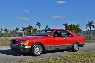 1984 Mercedes-Benz 500-Series 500 SEC W126 AMG VERY ORIGINAL / AMG UPGRADES / ONLY 50K MILES DOCUMENTED / FLORIDA CREAM PUFF
