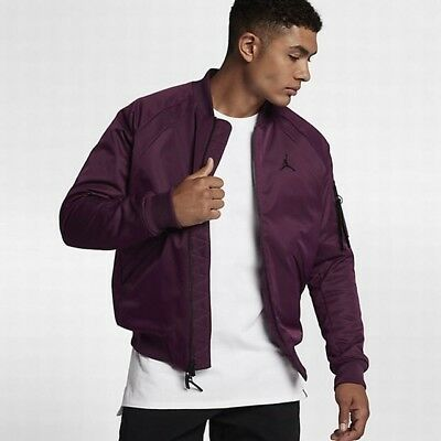 Air Jordan Wings MA-1 Jacket - LARGE - 879493-609 Burgundy Bomber Wine a239b0ac7