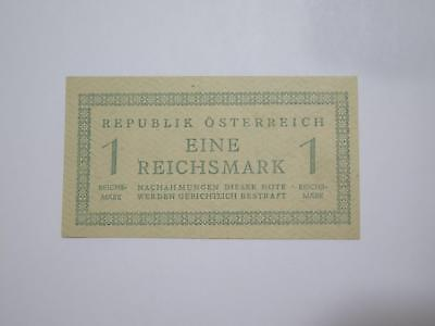 Austria Republic Russian Occupation 1945 1 Reichsmark Wwii Banknote Collection