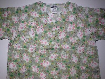 26673d64b78 CATS, DOGS, GREY & Pink; Kermit Frog Multicolor 2 SCRUB tops Size L ...