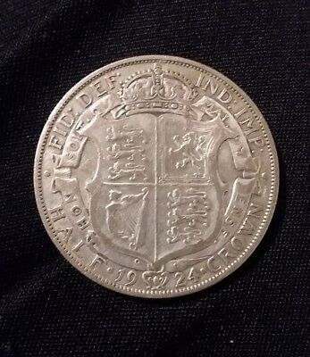 Great Britain 1/2 Crown, 1924, Silver World Coin