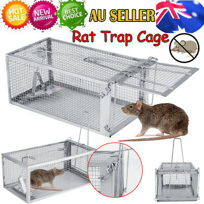 Humane Rat Trap Cage Live Animal Pest Rodent Mice Mouse Control Bait Catch Tool