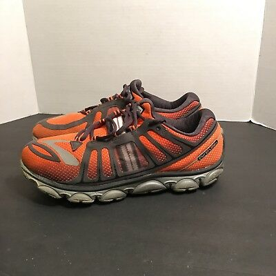 55ef06d0585 Brooks PureFlow 2 Road Running Training Shoes Sneakers Orange Gray Men s  Size 10